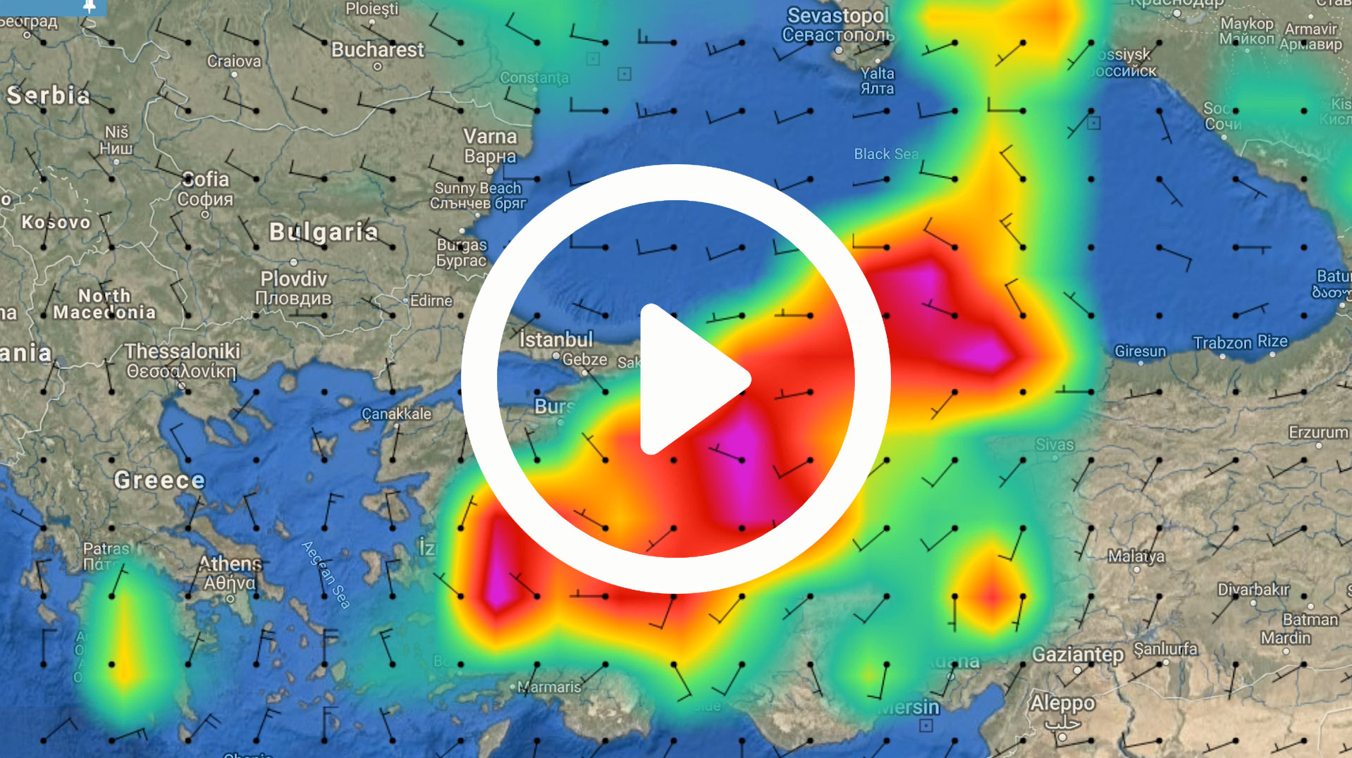 Global weather forecasts for shipping and vessel tracking